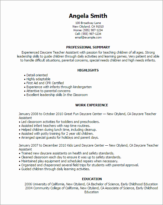 Teachers assistant Sample Resume Awesome Education Resume Templates to Impress Any Employer
