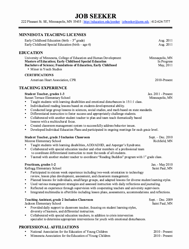 Teachers assistant Sample Resume Awesome Pin by Latifah On Example Resume Cv