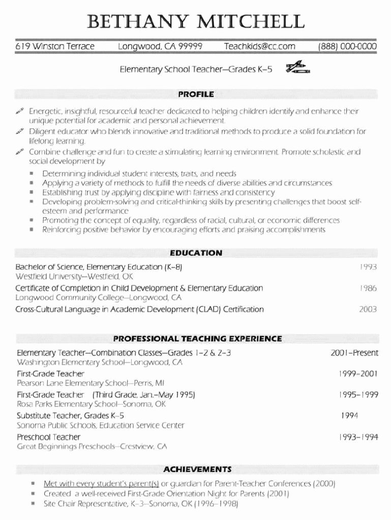 Teachers assistant Sample Resume Luxury Elementary Teacher Resume Examples … Resume