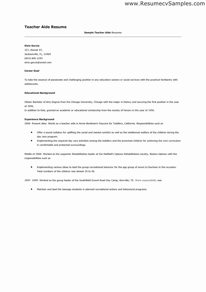 Teachers assistant Sample Resume Unique 9 10 Substitute Teacher Resume Profile
