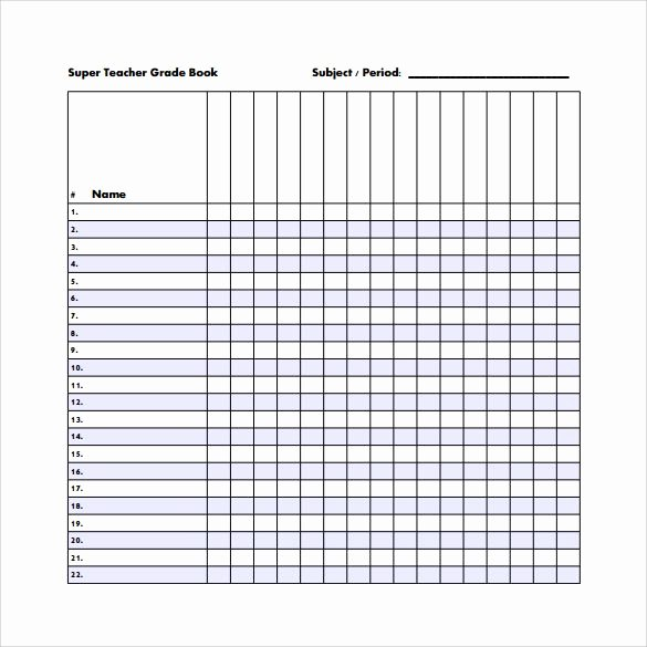 Teachers Record Book Template Luxury Sample Gradebook Template 7 Free Documents In Pdf Word