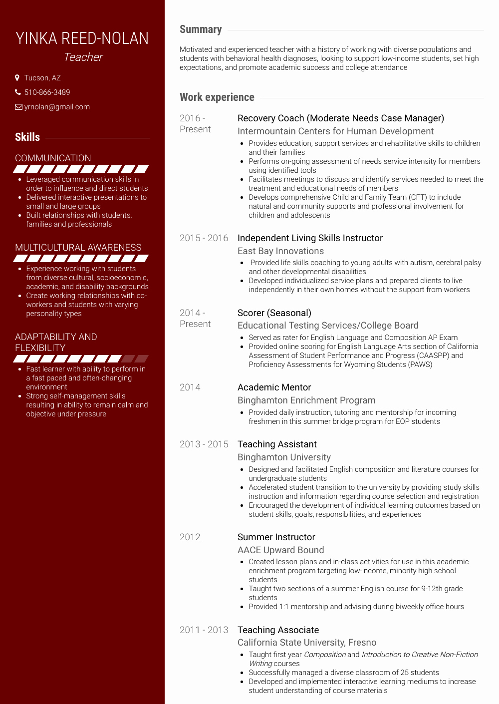 Teaching assistant Sample Resume Beautiful Teaching assistant Resume Samples & Templates