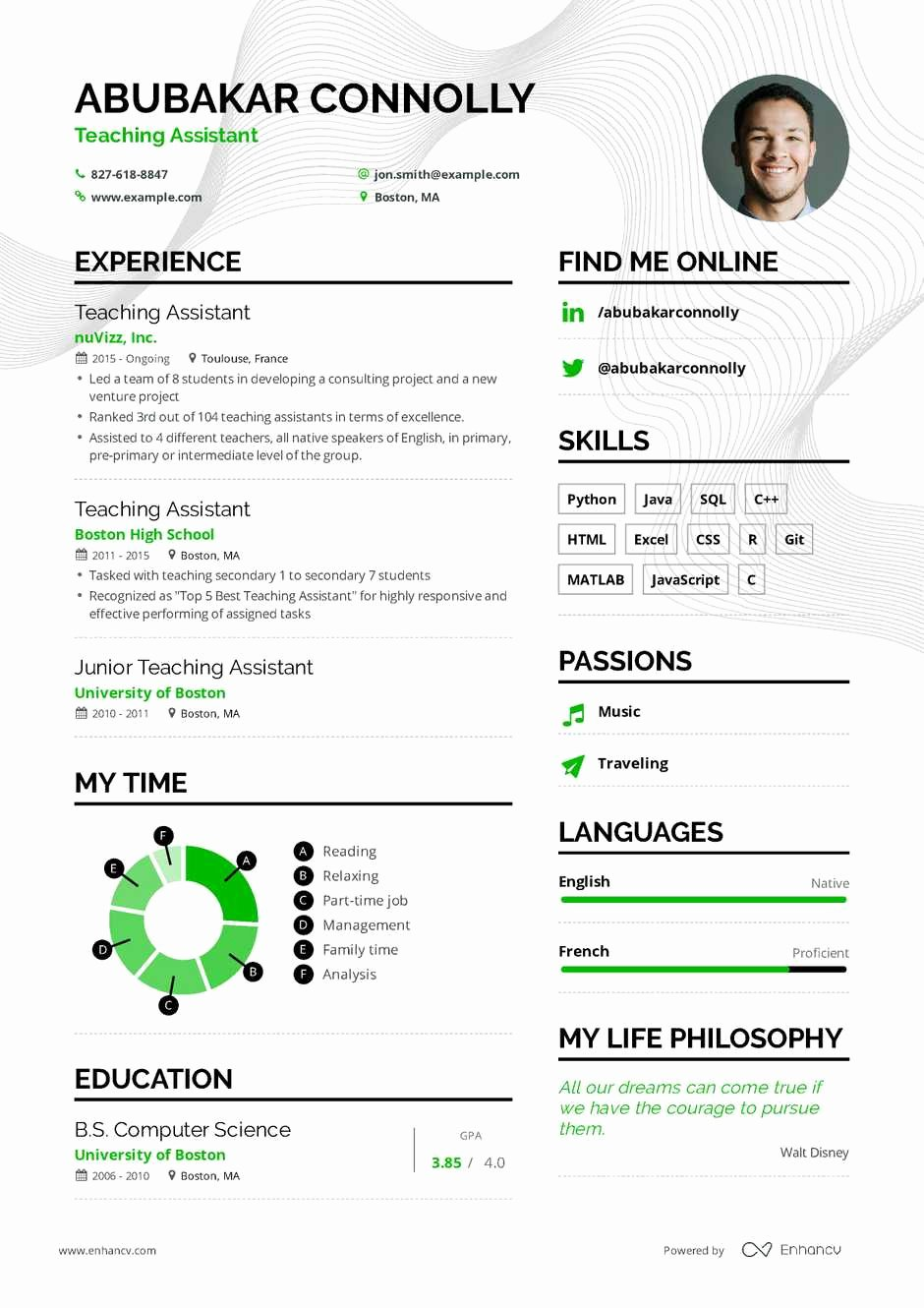 Teaching assistant Sample Resume Fresh Teaching assistant Resume Example and Guide for 2019