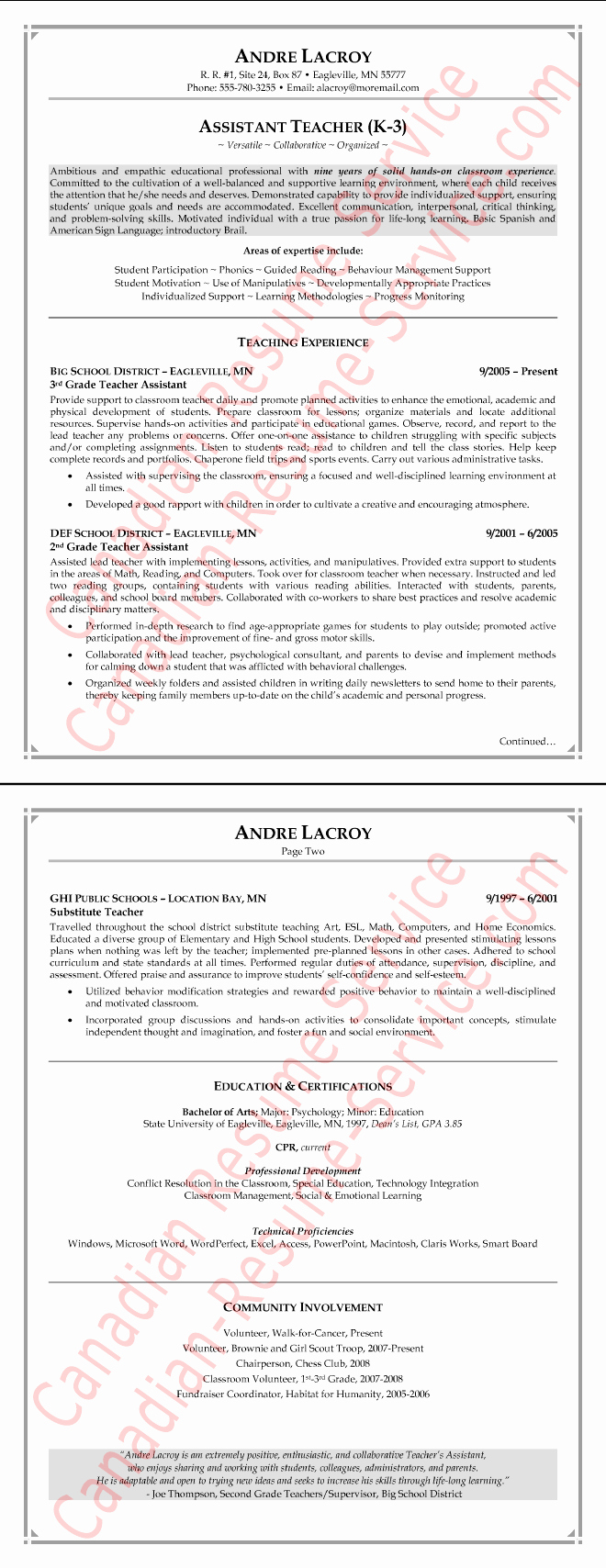 Teaching assistant Sample Resume Fresh Teaching assistant Resume Example Teacher Sample