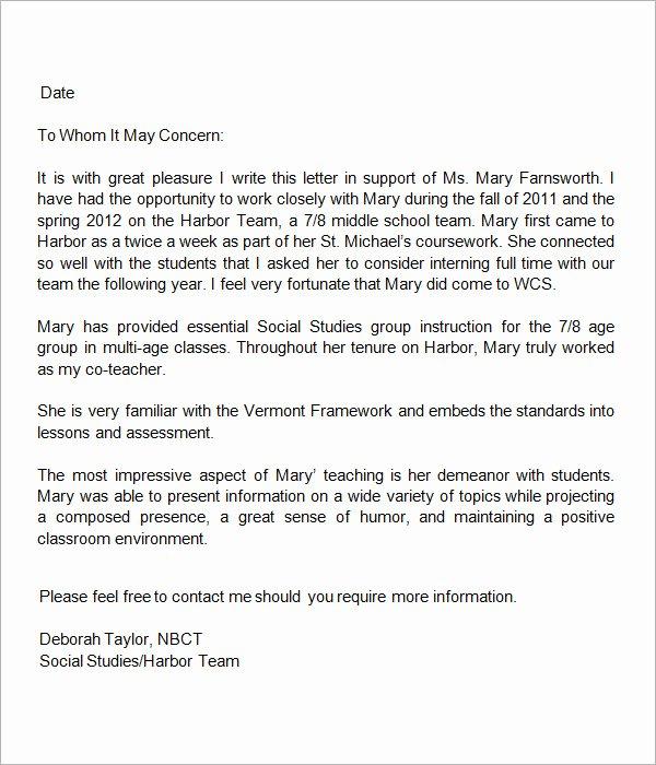 Teaching Letter Of Recommendation Elegant How to Write A Letter Re Mendation for A Teaching for