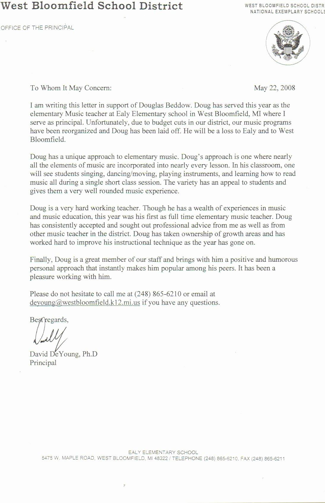 Teaching Letter Of Recommendation Inspirational Letter for Teacher Re Mendation top Essay Writing