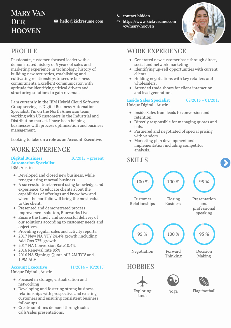 Technical Account Manager Resume Luxury 10 Coolest Resume Samples by People who Got Hired In 2018