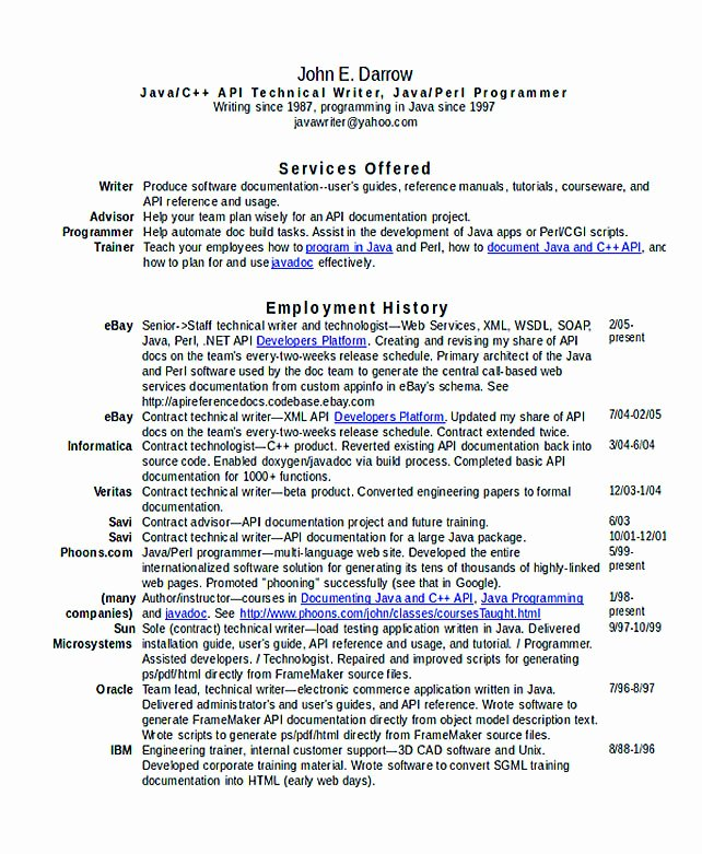 Technical Writer Resume Examples Best Of Good Teachers Resume format