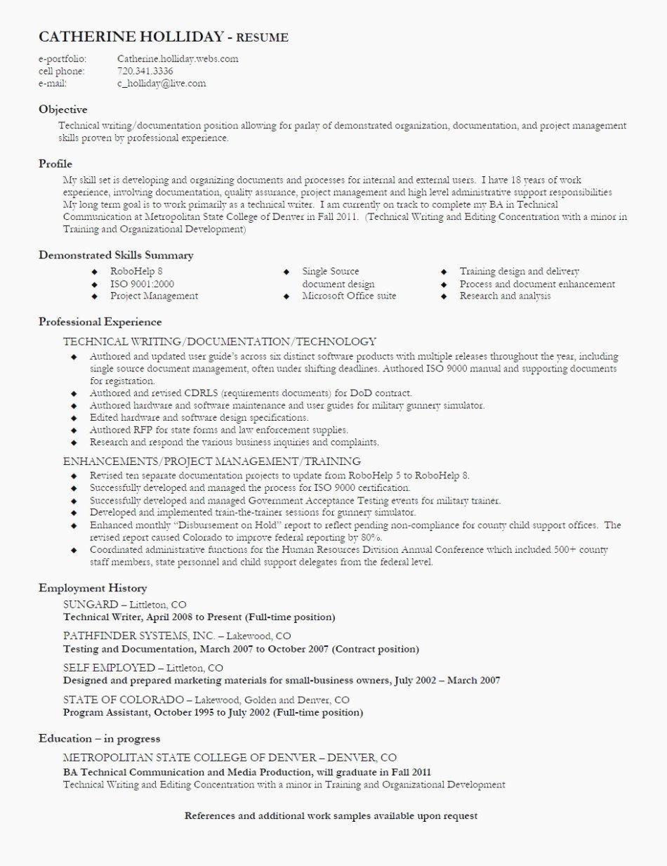Technical Writer Resume Examples Luxury What You Should Wear to