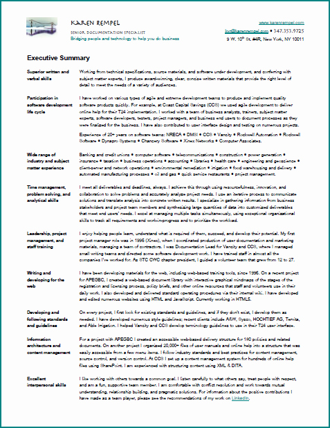 Technical Writer Resume Examples New Resume – Karen Rempel – New York Technical Writer