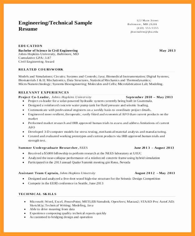 Technical Writer Resume Examples Unique 12 13 Entry Level Technical Writer Resume Sample