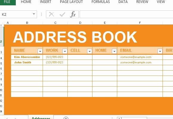 Telephone Directory Template Excel Fresh Address Book Maker Template for Excel