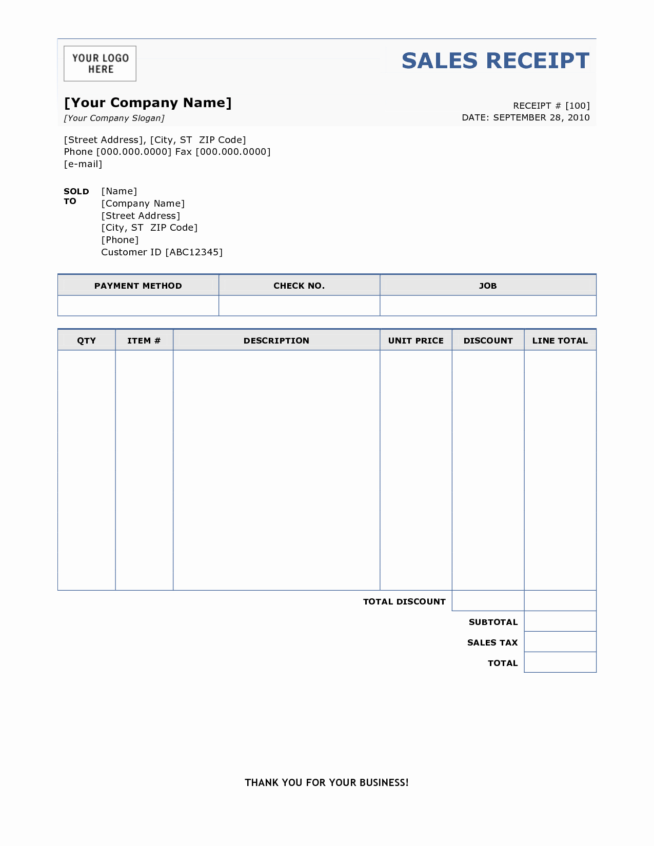 Template for A Receipt Lovely 6 Free Sales Receipt Templates Excel Pdf formats