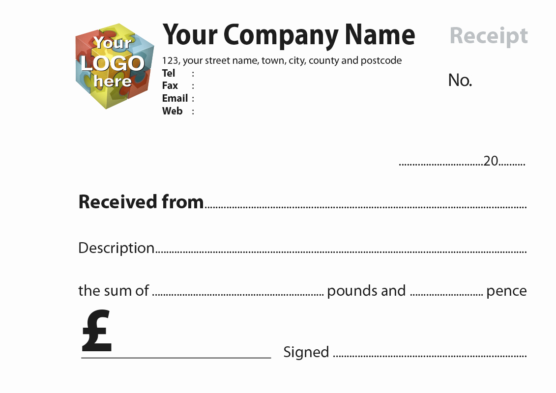 Template for A Receipt New Free Receipt Books Templates
