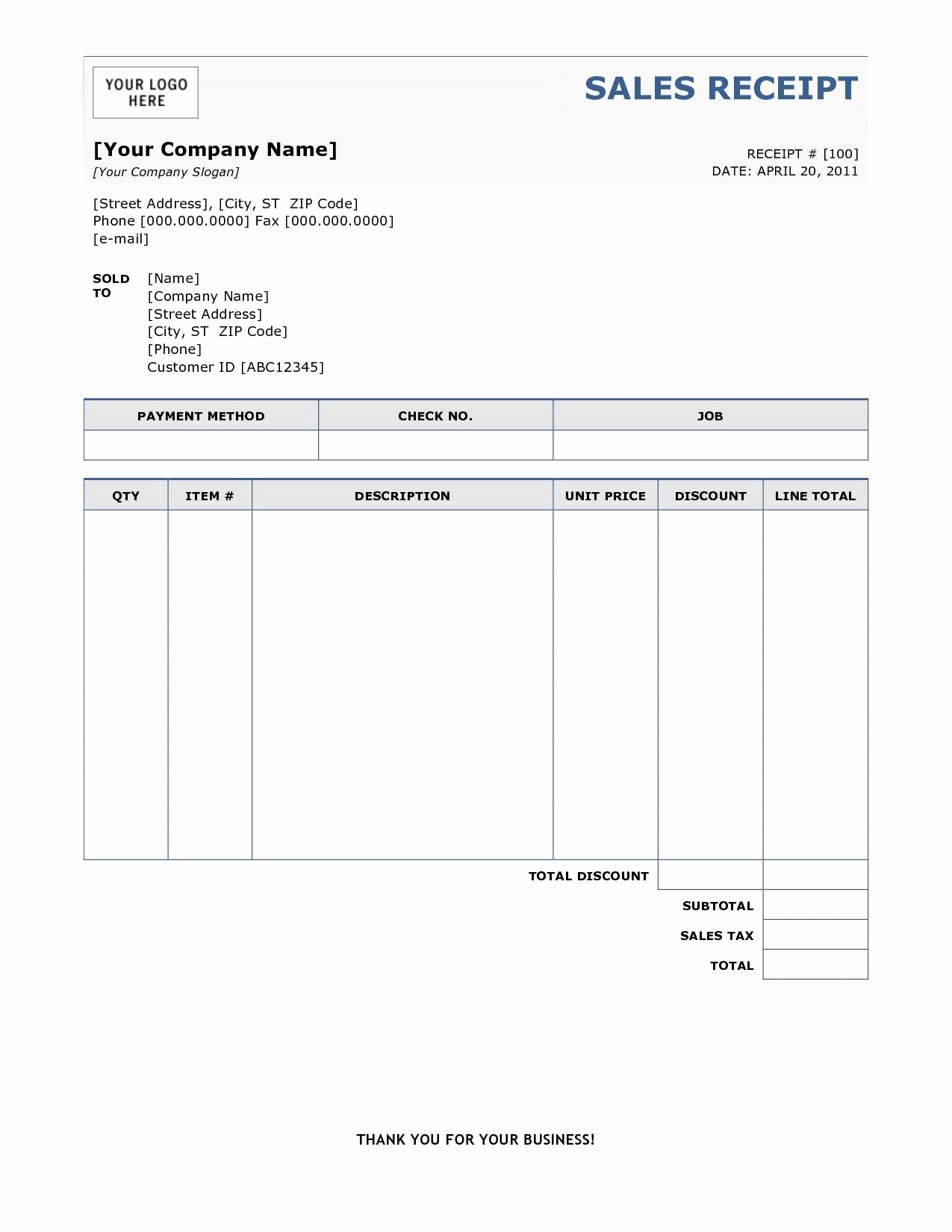 Template for A Receipt Unique Sample Of Invoice Receipt Free Printable Invoice Sample Of