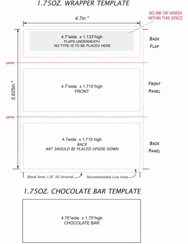 Template for Candy Bar Wrapper Elegant Candy Bar Wrappers Template Google Search