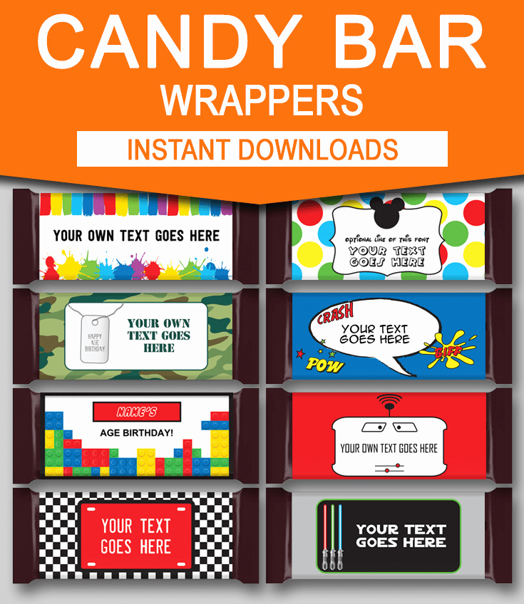 Template for Candy Bar Wrapper Lovely Diy Candy Bar Wrapper Templates Party Favors