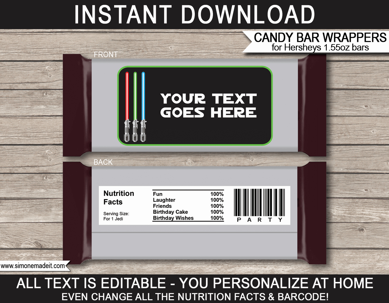 Template for Candy Bar Wrapper Lovely Star Wars Hershey Candy Bar Wrappers