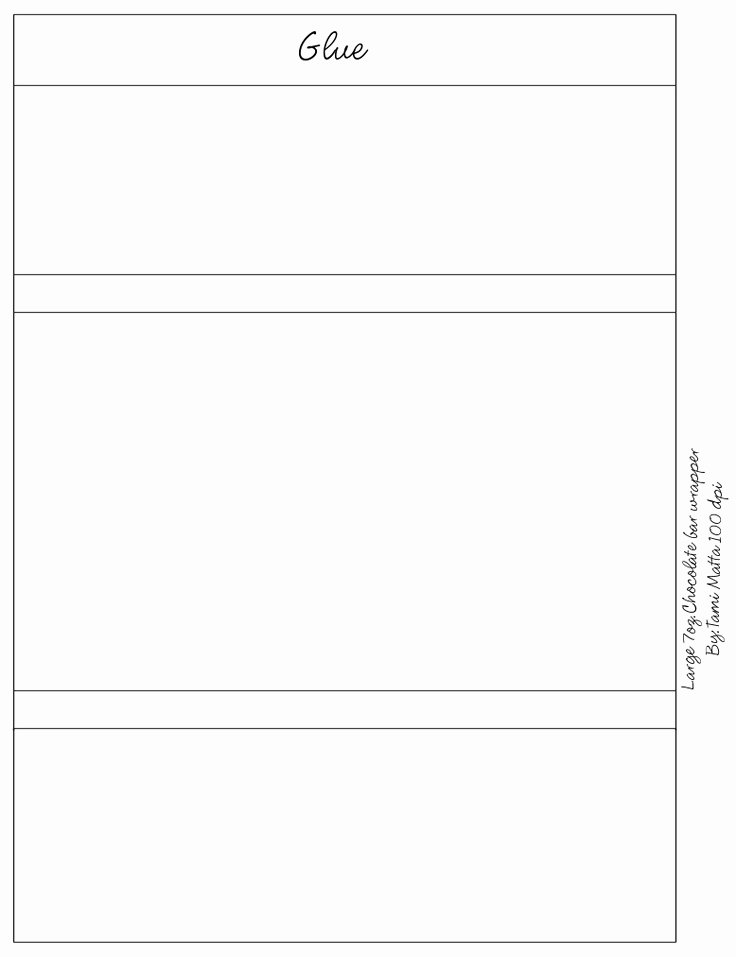 Template for Candy Bar Wrapper Unique 7oz Candy Bar Wrapper Templates