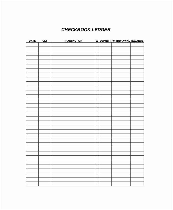Template for Check Register Unique Printable Check Register Sample 9 Examples In Pdf Word