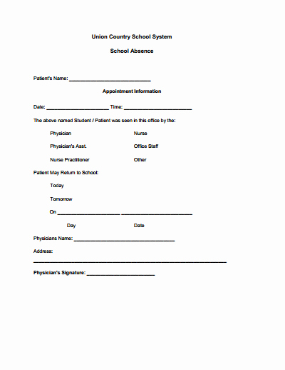 Template for Doctors Note Fresh Doctors Note for School Template Create Edit Fill and