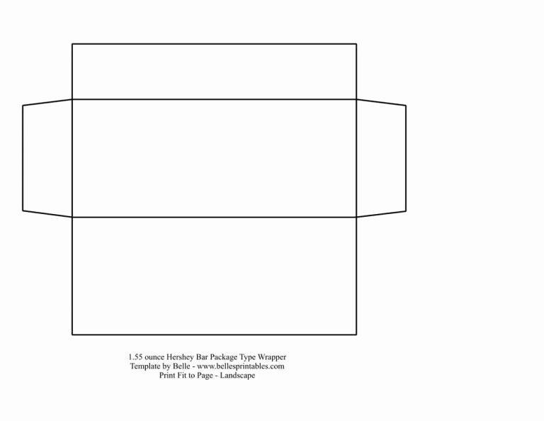 Template for Hershey Bar Wrapper Fresh Candy Bar Wrapper Template