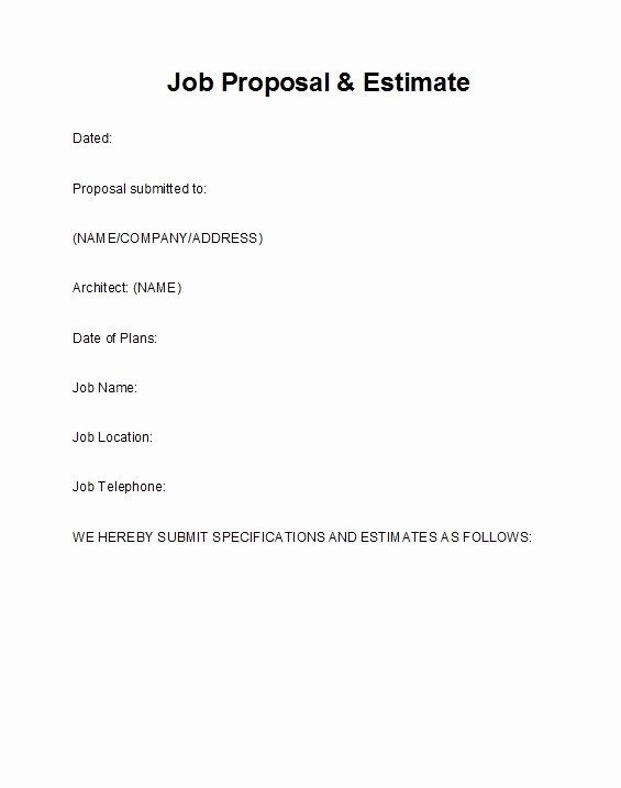 Template for Job Proposal Fresh 43 Best Job Proposal Templates Free Download Template Lab