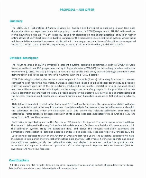 Template for Job Proposal Inspirational Job Proposal Template 24 Free Word Pdf Document