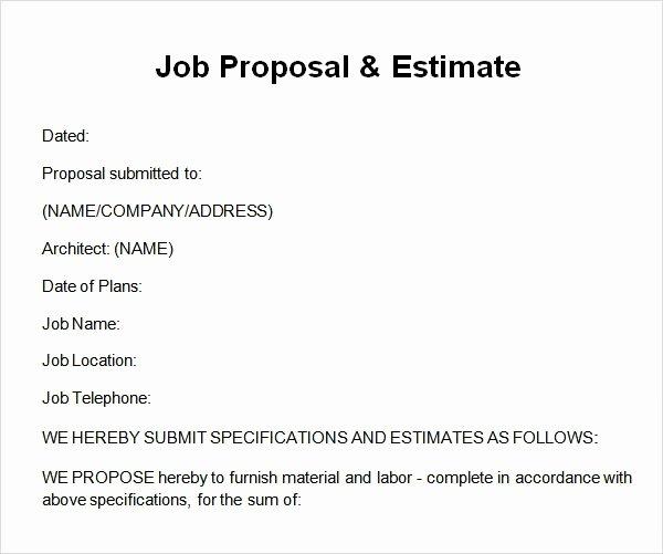 job proposal template
