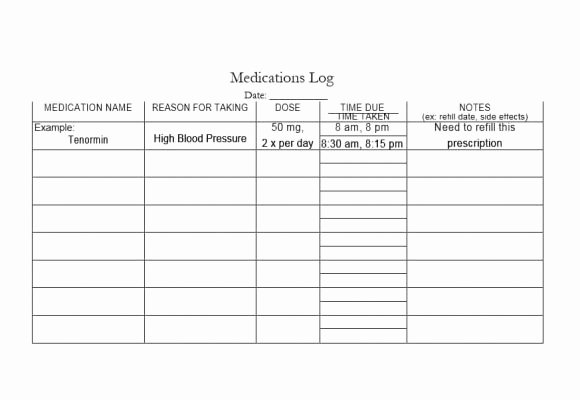 Template for Medication List Best Of 58 Medication List Templates for Any Patient [word Excel