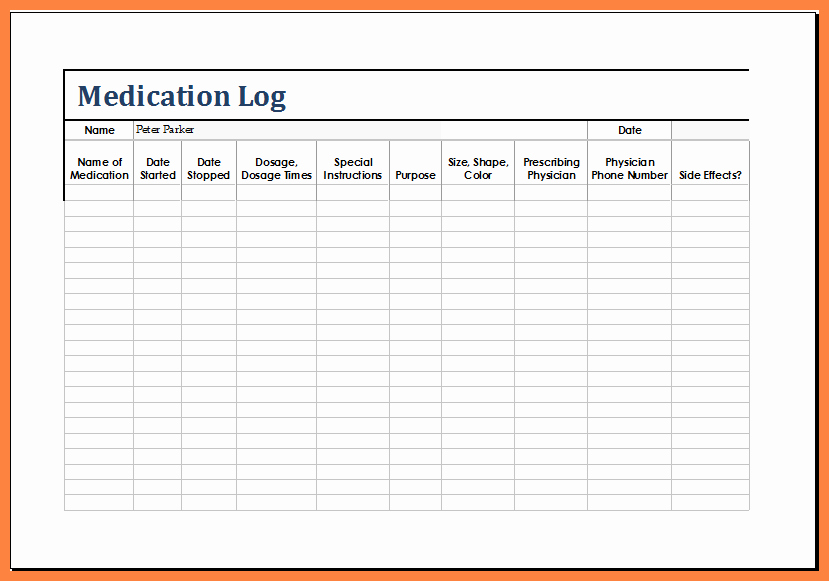 Template for Medication List Fresh 12 Medication List Template