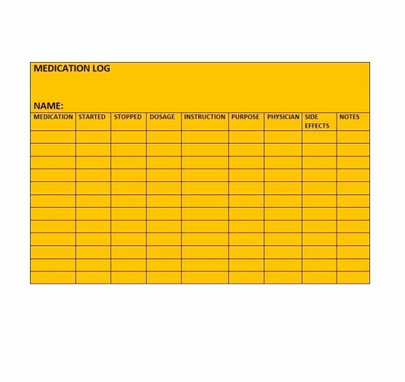 Template for Medication List Fresh 58 Medication List Templates for Any Patient [word Excel