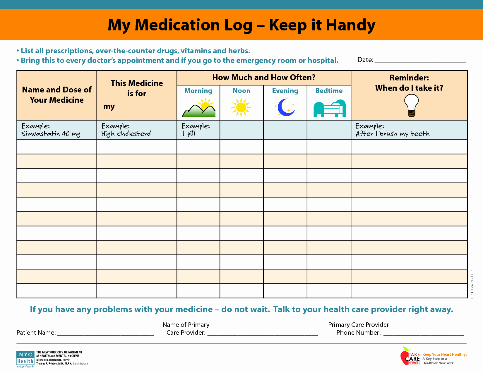 Template for Medication List Fresh Medicine Picture Schedule