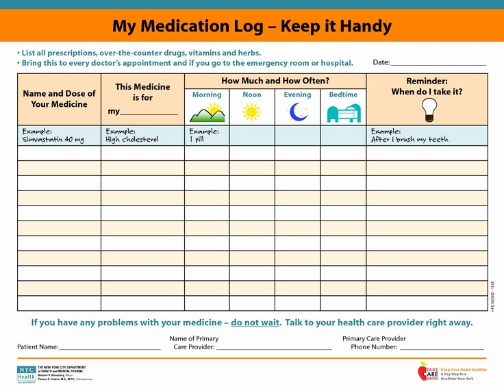 Template for Medication List Inspirational Medicine Picture Schedule