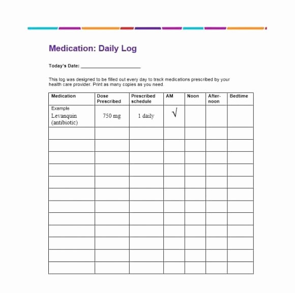 Template for Medication List New 58 Medication List Templates for Any Patient [word Excel