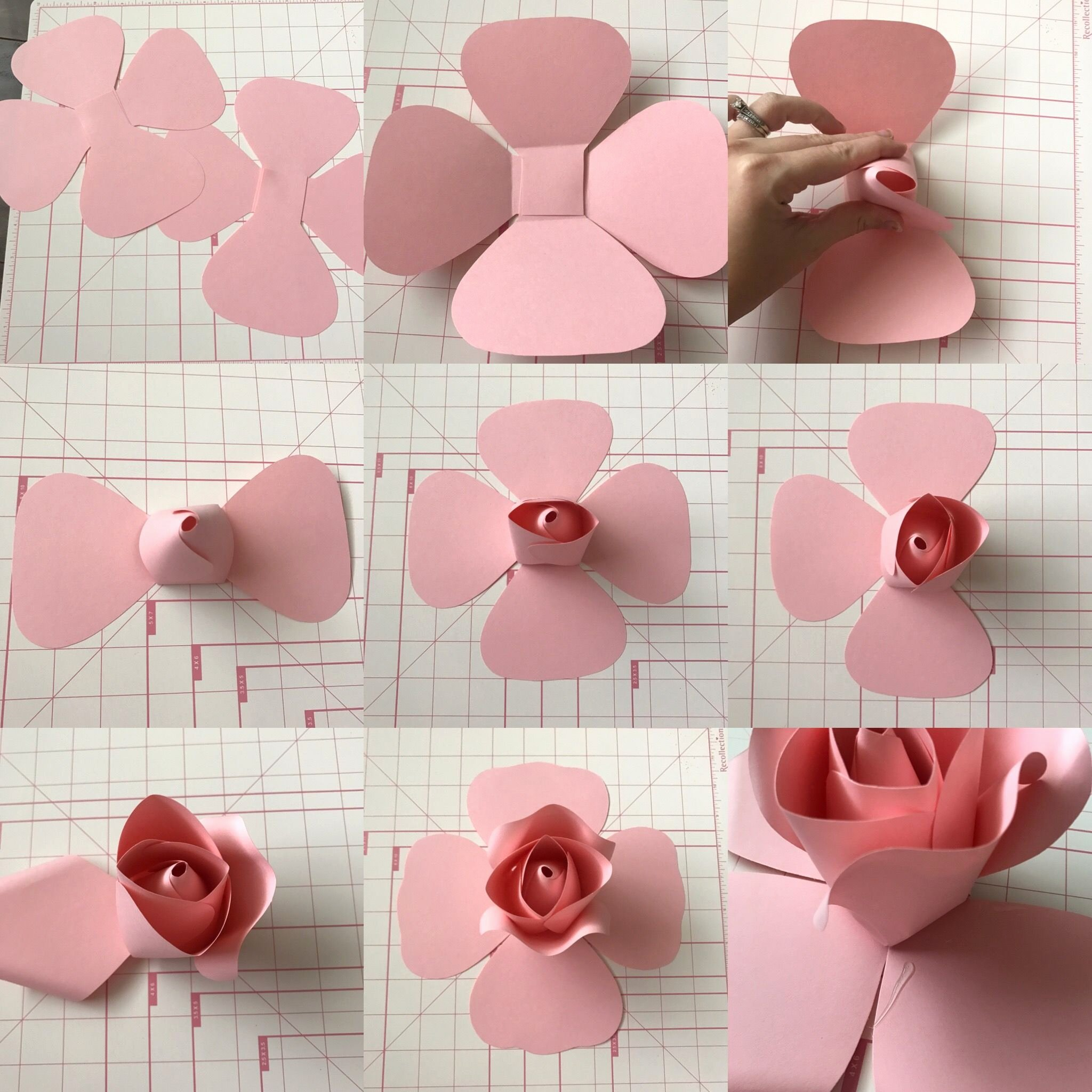Template for Paper Flowers Awesome Free Templates and Tutorial On Ann Neville Design Blog
