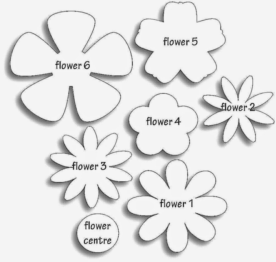 Template for Paper Flowers Beautiful Paper Flower Templates