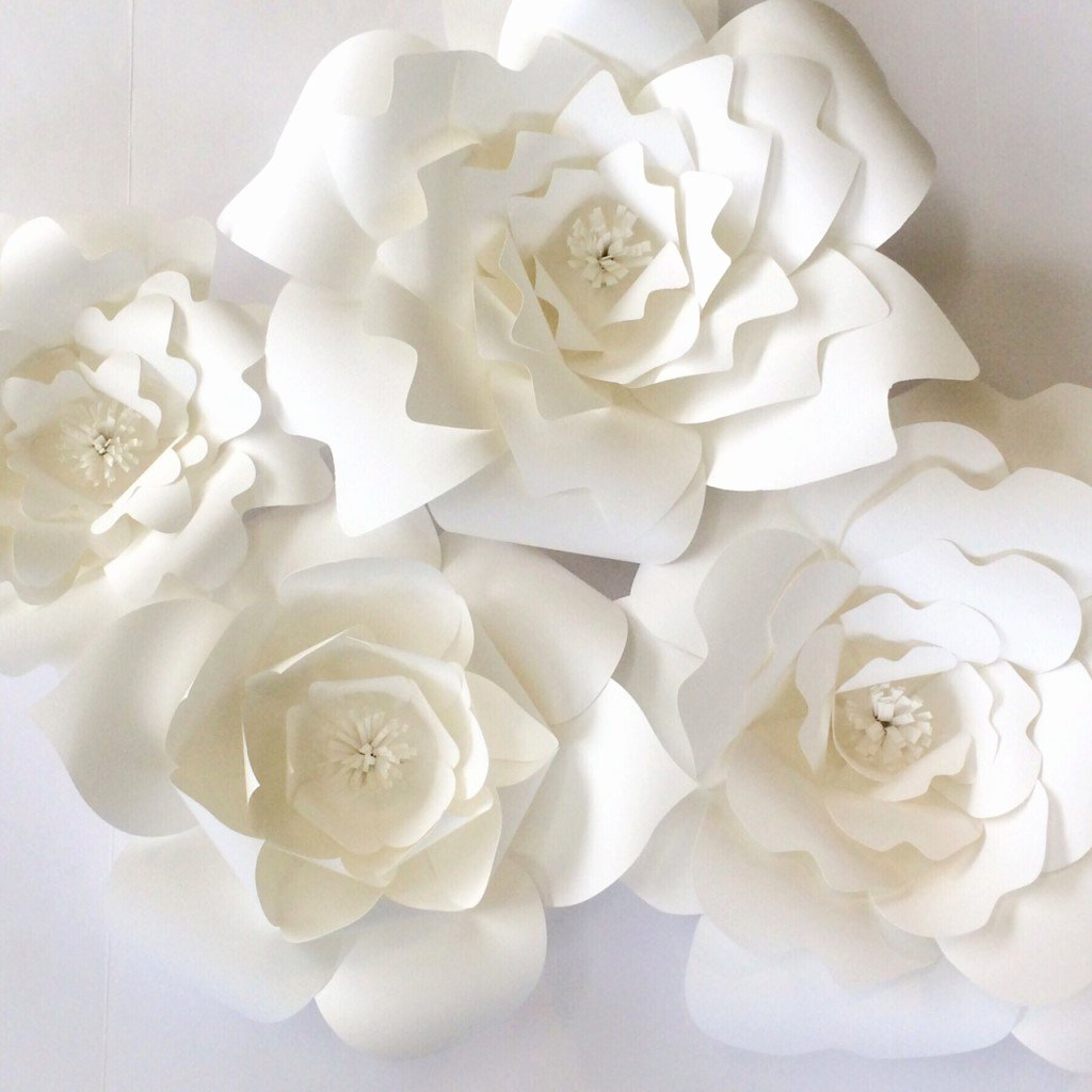 Template for Paper Flowers Lovely Paper Flower Templates Diy