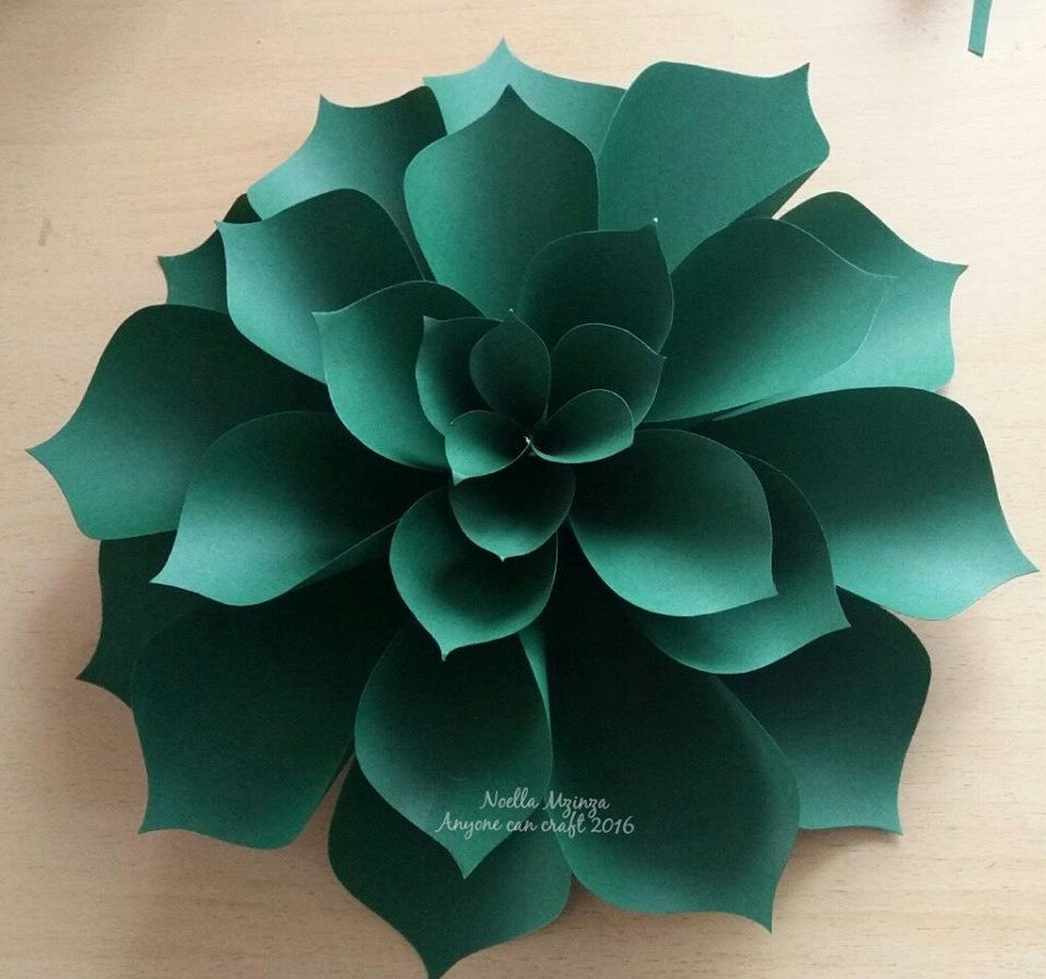 Template for Paper Flowers New Flower Petals – Anyone Can Craft