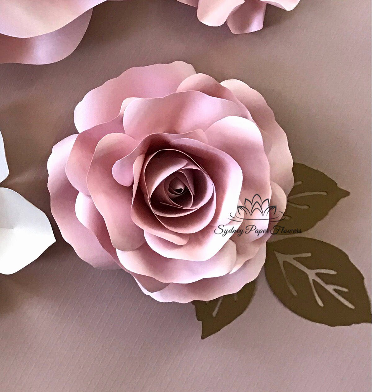 Template for Paper Flowers New Video Tutorial & Template Rose Bud Paper Flower Paper
