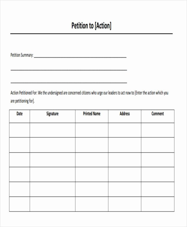 Template for Petition Signatures Awesome 7 Employee Petition – Free Sample Example format Download