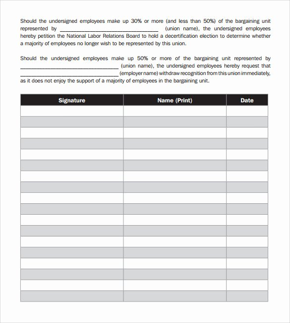 Template for Petition Signatures Awesome Free 23 Sample Petition Templates In Pdf