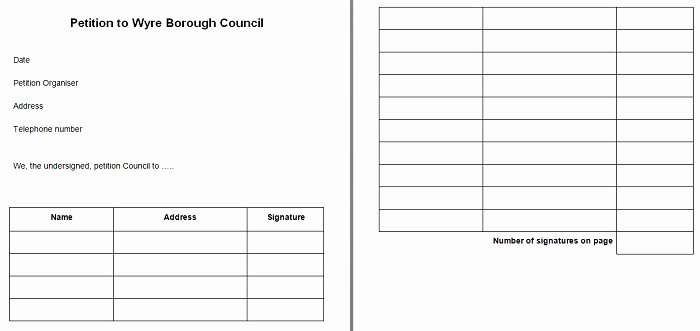 Template for Petition Signatures Unique 30 Free Petition Templates How to Write Petition Guide