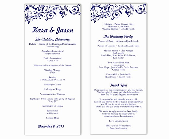 Template for Wedding Programs Beautiful Wedding Program Template Word