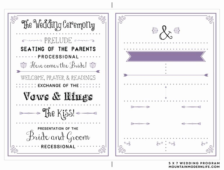 Template for Wedding Programs Best Of 27 Free Wedding Program Templates You Ll Love