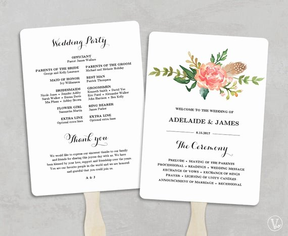 Template for Wedding Programs Best Of Printable Wedding Program Template Fan Wedding Programs Diy