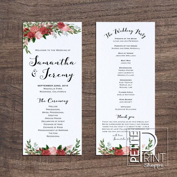 Template for Wedding Programs Best Of Wedding Program Template
