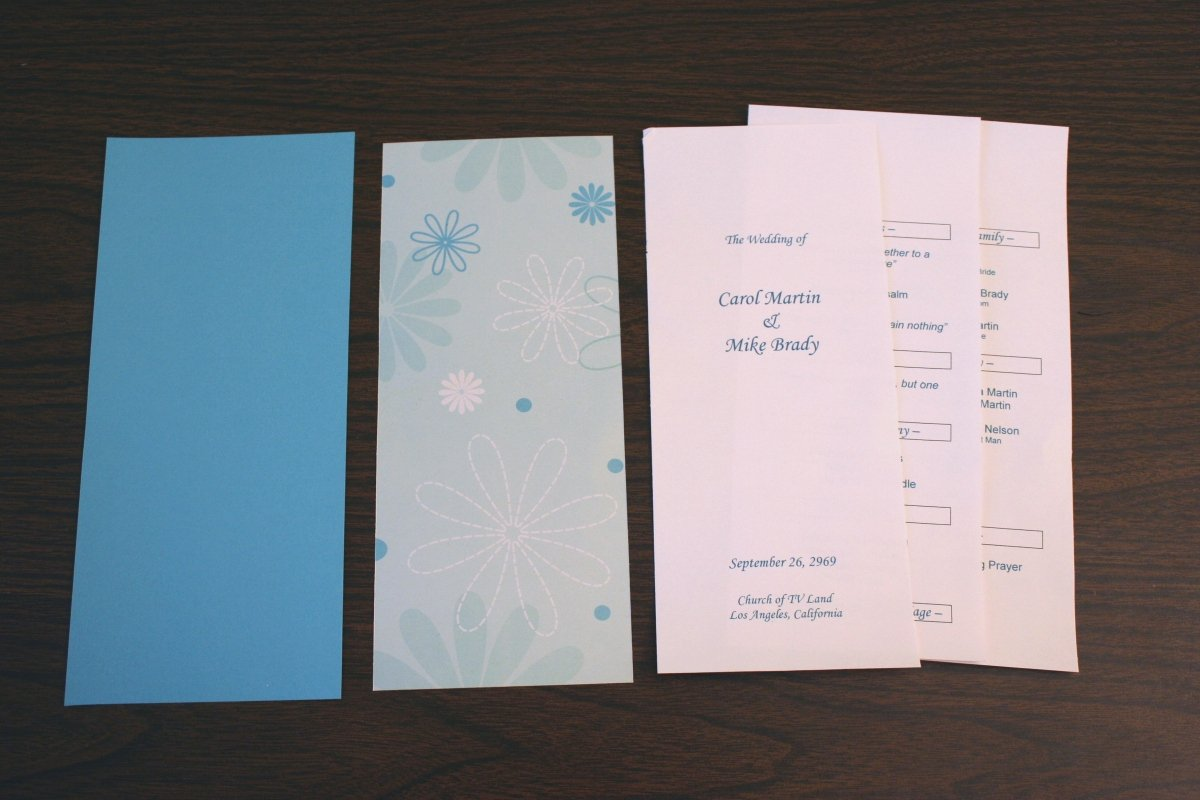 Template for Wedding Programs Elegant Wedding Program Template