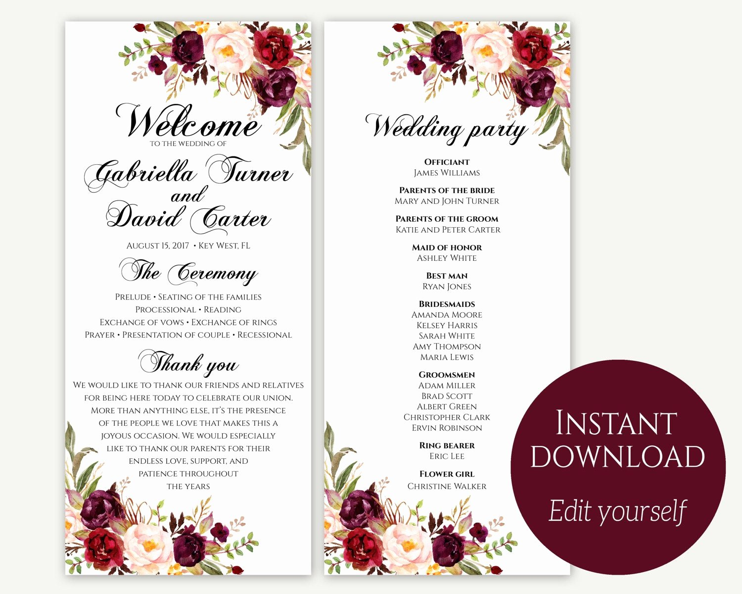 Template for Wedding Programs Inspirational Wedding Program Template Ceremony Template Wedding Program