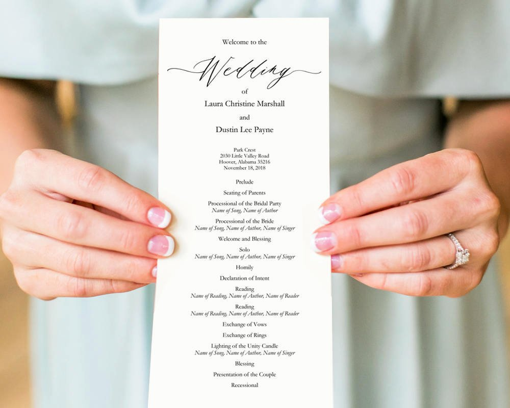 Template for Wedding Programs New Diy Wedding Programs · Wedding Templates and Printables